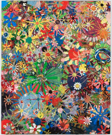 Gelitin  Flower painting, 2009  Plasticine on wood panel  49 1/2 x 40 1/2 x 3/4 inches (126 x 103 x 2 cm)