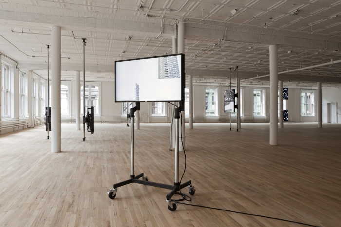 Installation view, Hilary Lloyd, Artists Space, New York, 2011