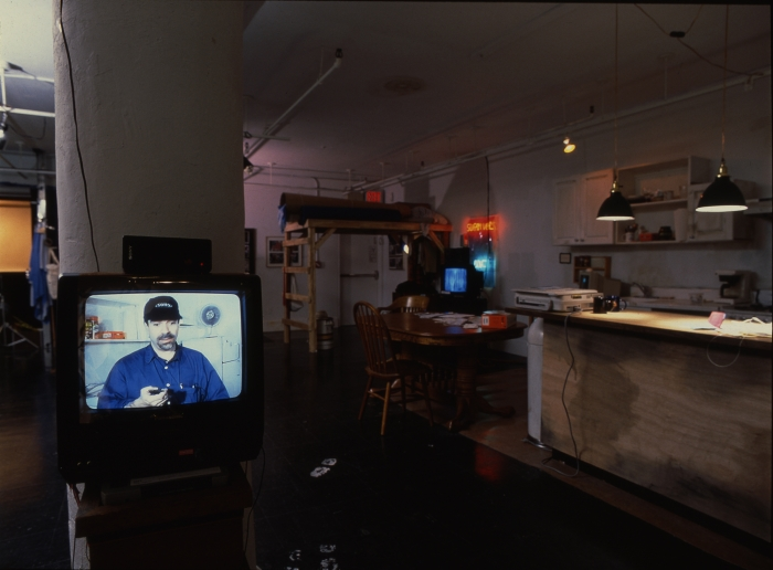 Michael Smith, Open House, Installation view, New Museum, NY, 1999  In collaboration with Joshua White