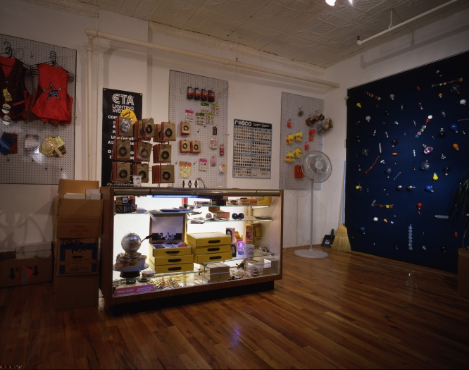 Michael Smith, Mus-Co:1969-1997, Installation view, Lauren Wittels, NY, 1997  In collaboration with Joshua White