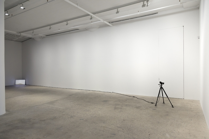 John Knight Corner displacement , 1969 Closed circuit video Dimensions variable