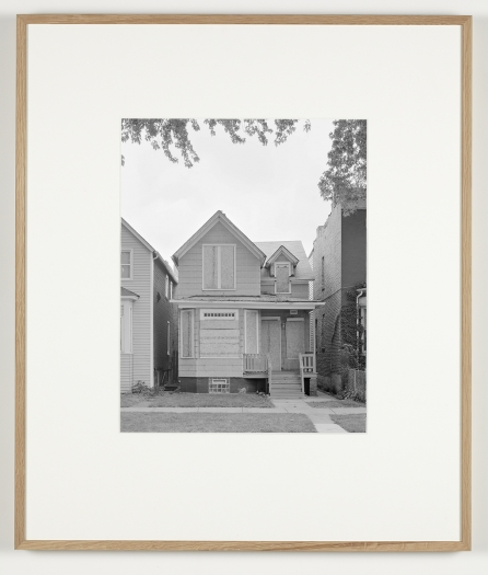 Some Boarded Up Houses   Chicago #2, 2009-2013   Silver gelatin print  27 x  22 5/8 inches (68.6 x 57.5 cm)