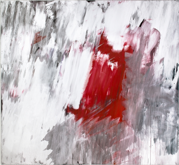 Jacqueline Humphries Untitled, 2011 Oil on linen 80 x 87 inches 203.2 x 221 cm