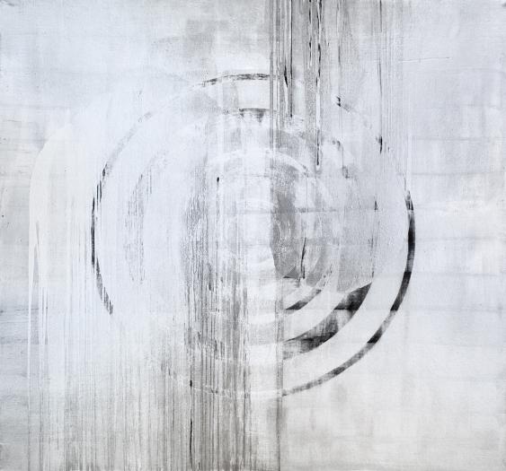 Jacqueline Humphries  Aegis, 2009  Oil on linen  90 x 96 inches (228.6 x 243.8 cm)