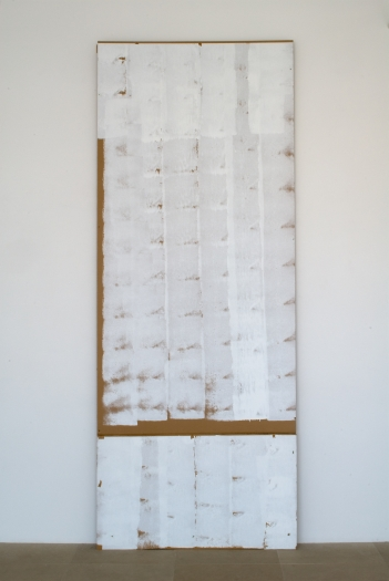 Gedi Sibony  Where Go, 2008  Cardboard, paint  123 x 48 x 5 inches (312 x 122 x 13 cm)