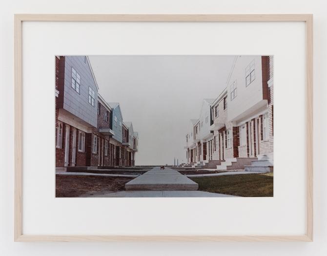 Dan Graham Courtyard, New Development, Jersey City, New Jersey, 1966 C-print Framed: 17 1/8 x 22 1/4 inches (43.5 x 56.5 cm)