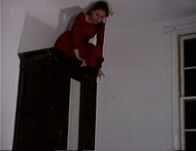 Lucy Gunning  Climbing Around My Room, 1993 (still)  7:30 minutes
