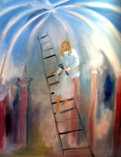 Sophie von Hellermann Coming Down the Ladder, 2011 Acrylic on canvas 90 1/2 x 70 7/8 inches 230 x 180 cm