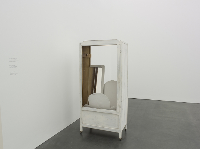 Gedi Sibony  The Perfect Imitation, 2011  Wooden painted armoire with cloth wrapped board inserts  73 1/4 x 33 1/2 x 22 inches (186.1 x 85.1 x 55.9 cm)