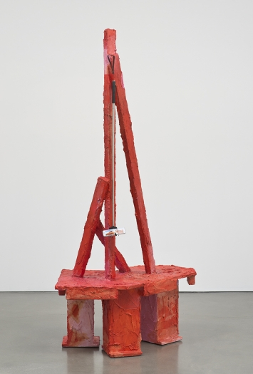 Rachel Harrison Chimney Rock, 2015 Wood, polystyrene, cement, and acrylic 81 1/4 x 35 1/2 x 29 1/4 inches (206.4 x 90.2 x 74.3 cm)