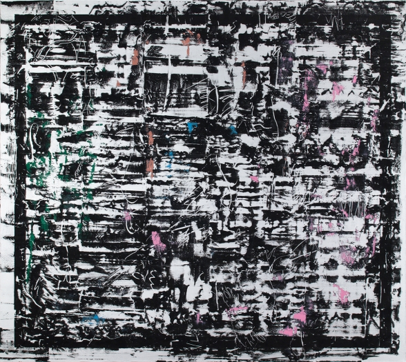 Jacqueline Humphries Untitled, 2014 Oil on linen 114 x 127 inches (289.6 x 322.6 cm)