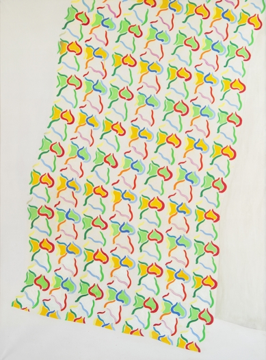 Konrad Lueg Handtuch, 1965 Casein color on canvas 78 3/4 x 57 1/8 inches (200 x 145.1 cm)
