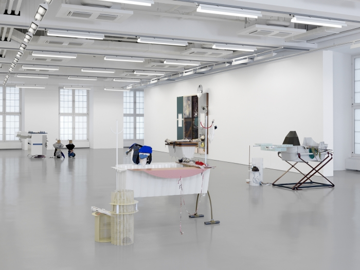 Helen Marten, Installation view, Parrot Problems, Fridericianum, Kassel, Germany, 2014