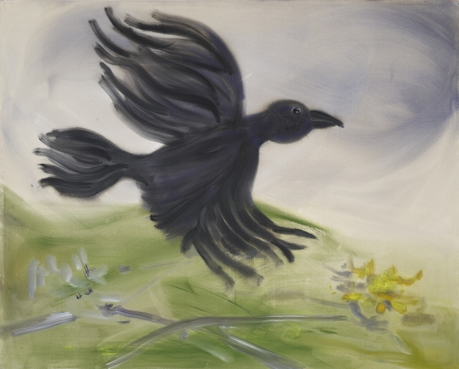 Sophie von Hellermann As the Crow Flies, 2013 Pigment and acrylic emulsion on canvas 63 x 79 1/4 inches (160 x 201 cm)