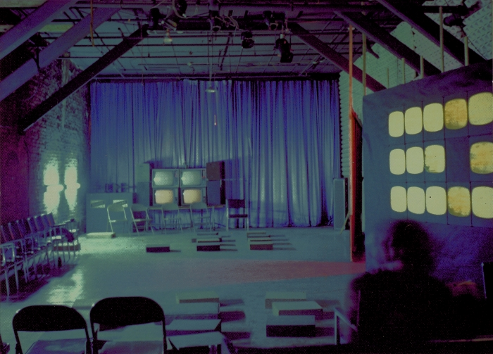 Tony Conrad, Installation view, Yellow Movies, The Kitchen, New York, 1973