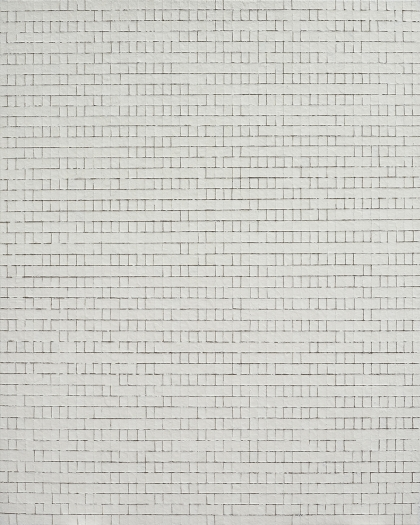 Chung Sang-Hwa Untitled 013-11-20, 2013 Acrylic and kaolin on canvas 63 7/8 x 51 3/8 inches (162.2 x 130.3 cm)