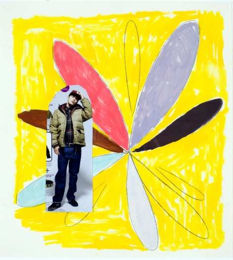 Richard Hawkins Dragonfly 4, 2009 oil and pencil on paper 18 1/8 x 16 1/2 inches (46 x 41.9 cm)