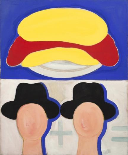 Konrad Lueg Aus Dem Rechenbuch, 1963 Casein tempera on canvas 39 3/8 x 35 1/2 inches (100 x 90 cm)