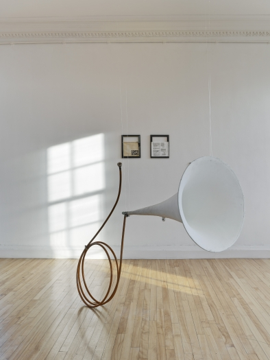 Installation view, Tony Conrad: Invented Acoustical Tools 1969-2014, Inverleith House, Royal Botanic Garden, Edinburgh, 2014