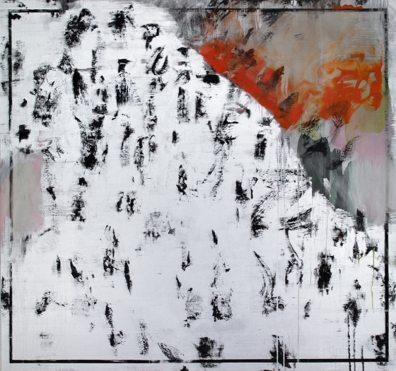 Jacqueline Humphries Untitled, 2012 Oil on linen 90 x 96 inches 228.6 x 243.8 cm