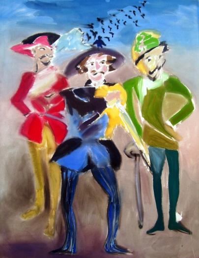 Sophie von Hellermann D'Artagnan (3 musketeers), 2011 Acrylic on canvas 92 1/2 x 72 7/8 inches 235 x 185.1 cm
