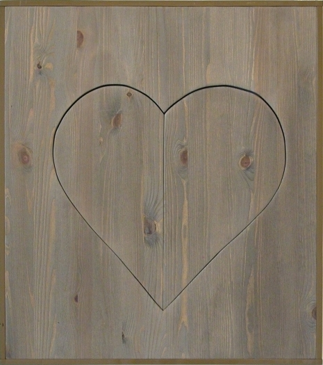 Michaela Meise Heart (light brown), 2006 Wood, stain, wax, resin lacquer 28 1/4 x 25 1/4 x 2 inches 71.8 x 64.1 x 5.1 cm