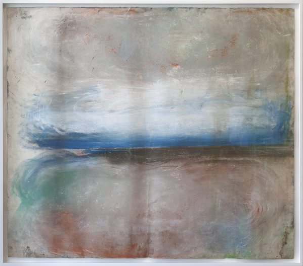 Ed Clark Untitled, 2013 Dry pigment on paper Paper: 51 1/2 x 60 inches (130.8 x 152.4 cm) Frame: 54 3/8 x 62 7/8 inches (138.1 x 159.7 cm)