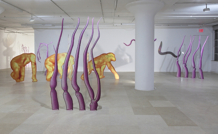 Katja Novitskova, Installation view, Approximation (Storm Time), Greene Naftali, New York, 2016