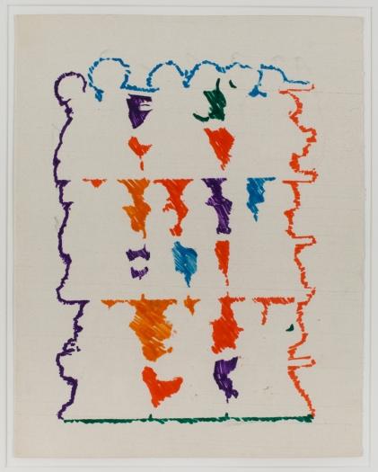 Konrad Lueg Untitled (Negative von Glanzbildern), Unknown Felt pen on card Paper: 11 3/8 x 9 inches (29 x 23 cm)  Framed: 17 7/8 x 14 3/8 inches (45.5 x 36.7 cm)
