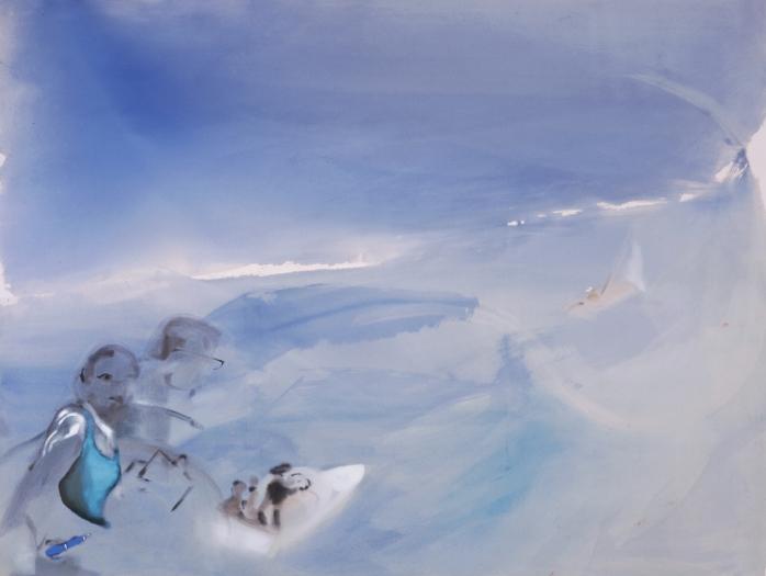 Sophie von Hellermann Tinnef (Sailing Boat), 2005 acrylic on canvas 69.29 x 91.54  inches 176 x 232.5 cm