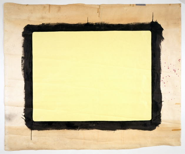 Tony Conrad  Yellow Movie 12/14-15/72, 1972  Emulsion: Citron tinted low lustre enamel, Speedflex Latex Colorizer, Brooklyn Paint & Varnish Co.  Base: White seamless paper  90 1/2 x 107 inches