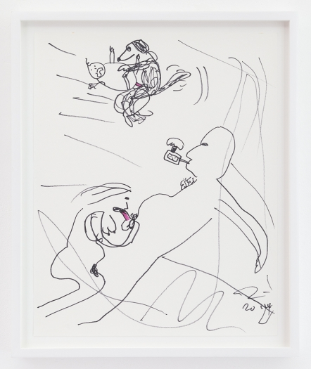Trevor Shimizu Vape Dad 2, 2014 Ink on paper Paper: 17 x 13 1/2 inches (43.2 x 34.3 cm) Frame: 19 1/4 x 16 x 1 1/2 inches (48.9 x 40.6 x 3.8 cm)