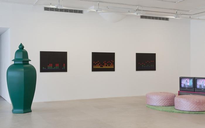 Installation view, EXO EMO, Greene Naftali, New York, 2017