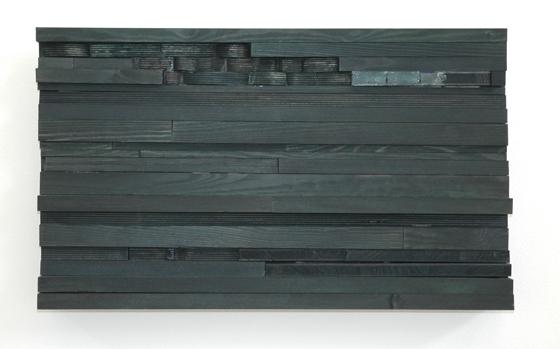 Michaela Meise Moll 1, 2005 satin acrylic paint, wood 14 1/2 x 23 3/4 x 3 inches 36.8 x 60.3 x 7.6 cm