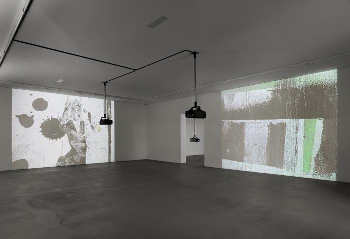 Installation view, Hilary Lloyd, Museum für Gegenwartskunst, Basel, 2012