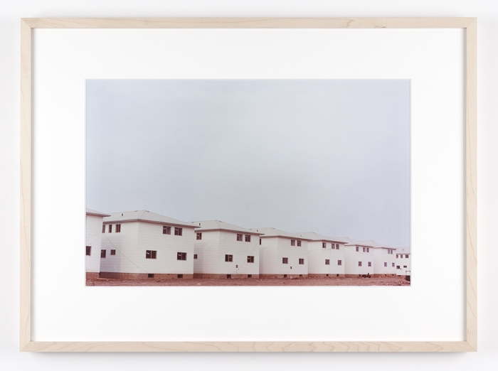 Dan Graham Row of New Tract Houses, Bayonne, New Jersey, 1966 C-print Framed: 17 1/8 x 22 1/4 inches (43.5 x 56.5 cm)
