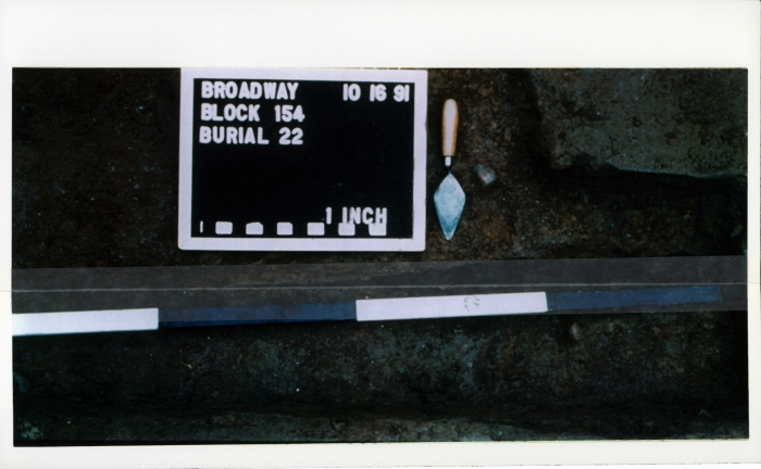 Michaela Meise  African Burial Ground 5, 2006  Inkjet print, archival mending tape  6 3/4 x 10 7/8 inches (17.1 x 27.6 cm)