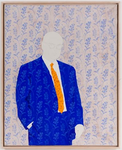 Konrad Lueg Untitled (Onkel), 1965 Casein tempera on canvas 49 1/4 x 39 3/8 inches (125 x 100 cm)