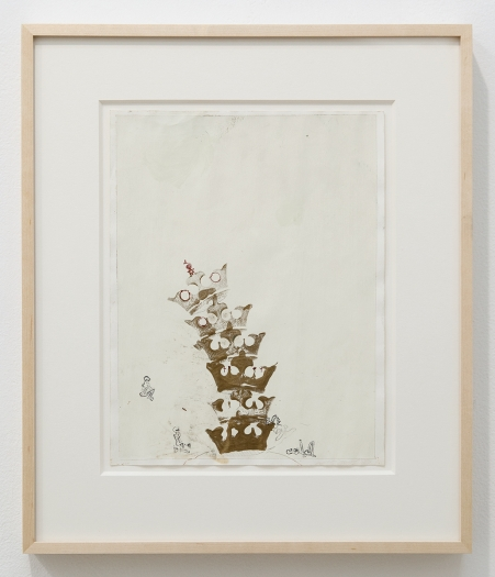 Julie Becker Untitled (Six Crowns), 2002 Mixed media on paper Paper: 11 x 8 1/2 inches (27.9 x 21.6 cm) Frame: 16 1/4 x 13 3/4 x 1 1/2 inches (41.3 x 34.9 x 3.8 cm)