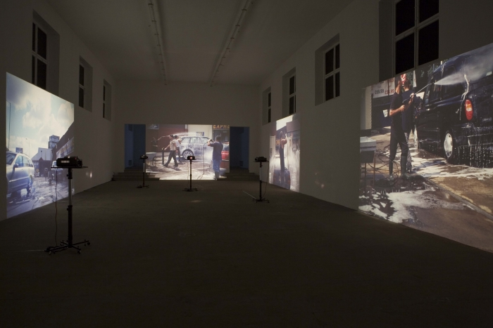 Installation View, Hilary Lloyd, Kunstverein Münich, Munich, 2006