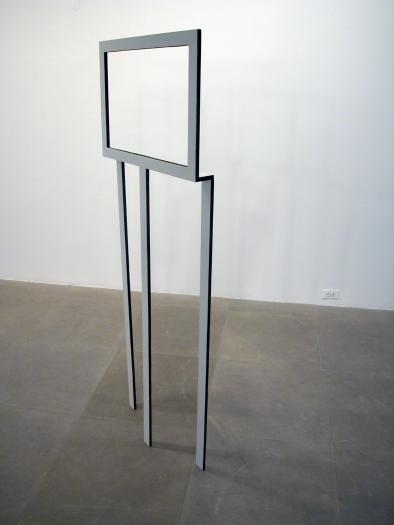 Michaela Meise  Rahmen, 2005  wood, stain, paint  67 x 24 1/2 x 3 inches (170.2 x 62.2 x 7.6 cm)