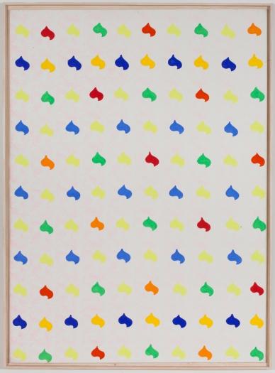 Konrad Lueg Untitled (Herzmuster), 1965 Casein tempera on canvas 78 3/4 x 57 inches (200 x 145 cm)