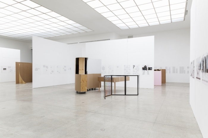 Installation view, Josef Strau:  A Turtle Dreaming (…Echoes from an Encapsulated Space Exiled Sounds of Letters Requiring Symphonic Treatment), Secession, Vienna, 2015
