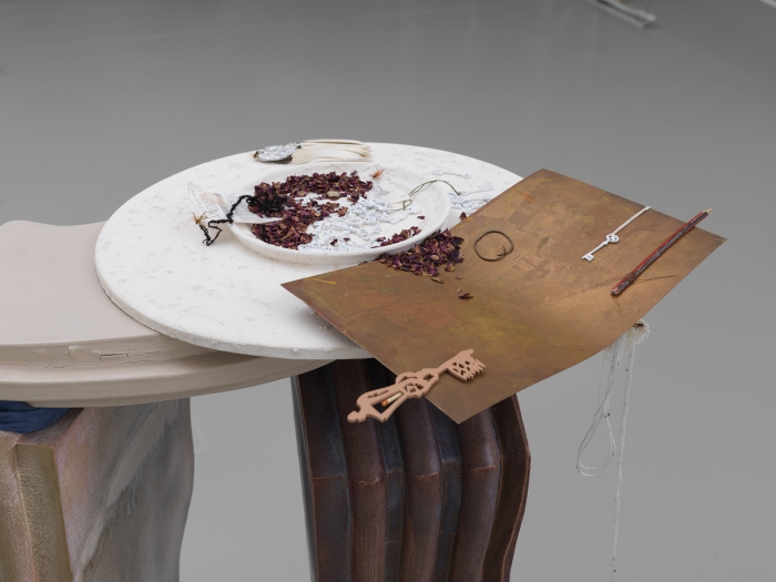 Helen Marten, Long division lunches (Let by), 2014 (detail)