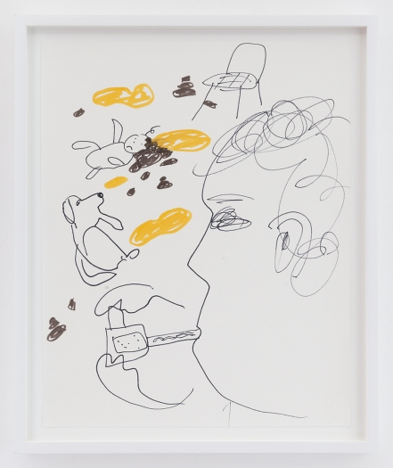 Trevor Shimizu Vape Dad 1, 2014 Ink on paper Paper: 17 x 13 1/2 inches (43.2 x 34.3 cm) Frame: 19 1/4 x 16 x 1 1/2 inches (48.9 x 40.6 x 3.8 cm)