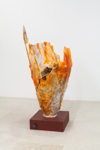gelitin A Vase, 2012 Mixed media 88 1/4 x 22 3/4 x 23 1/2 inches (224.2 x 57.8 x 59.7 cm)