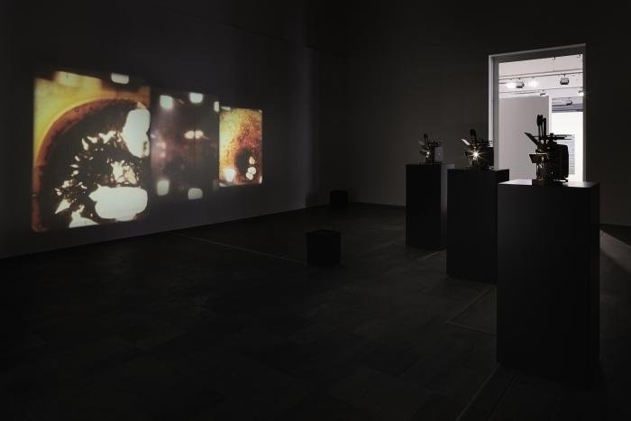 Installation view, Paul Sharits. A Retrospective, Fridericianum, Kassel
