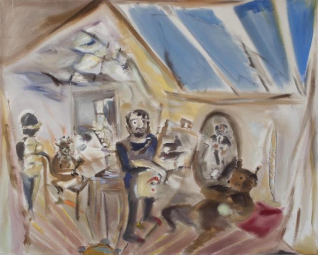 Sophie von Hellermann The Artist's Studio, 2010 Acrylic on canvas 72 x 92 inches 182.9 x 233.7 cm