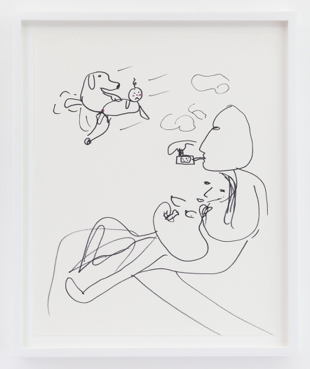 Trevor Shimizu Vape Dad 3, 2014 Ink on paper Paper: 17 x 13 1/2 inches (43.2 x 34.3 cm) Frame: 19 1/4 x 16 x 1 1/2 inches (48.9 x 40.6 x 3.8 cm)