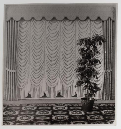 Konrad Lueg Untitled (Gardine mit Gummibaum), Unknown Photo paper Paper: 10 3/8 x 9 7/8 inches (26.5 x 25 cm) Frame: 16 3/8 x 14 1/4 inches (41.5 x 36 cm)